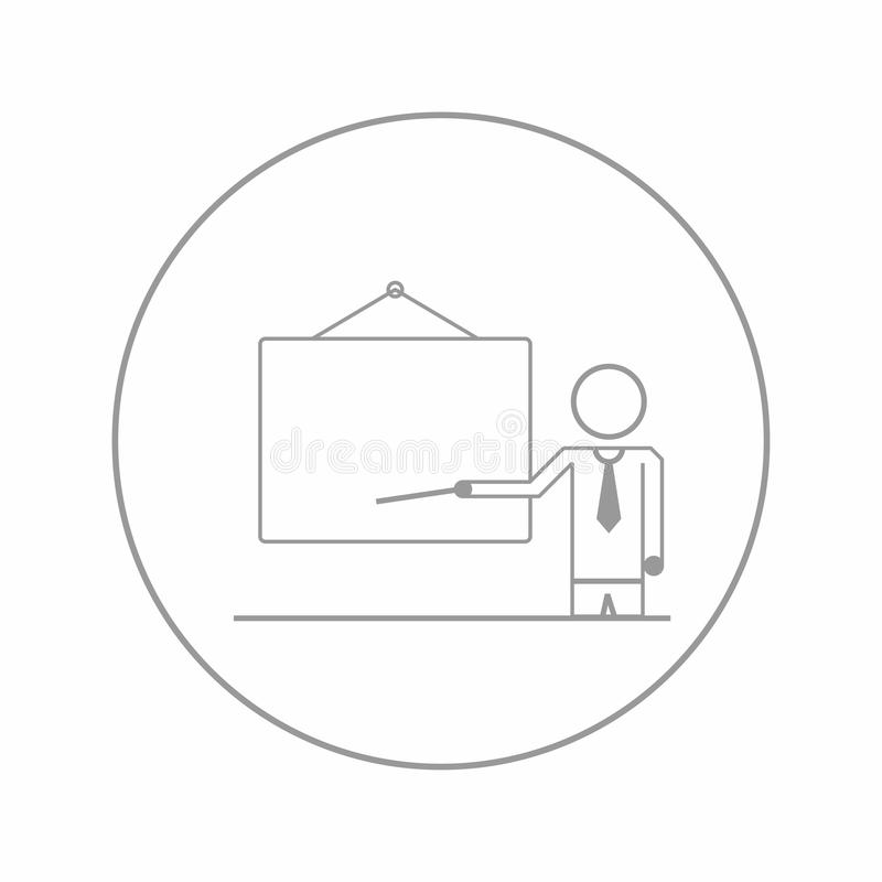 Affaires, ligne s'exerçante icône de présentation illustration de vecteur