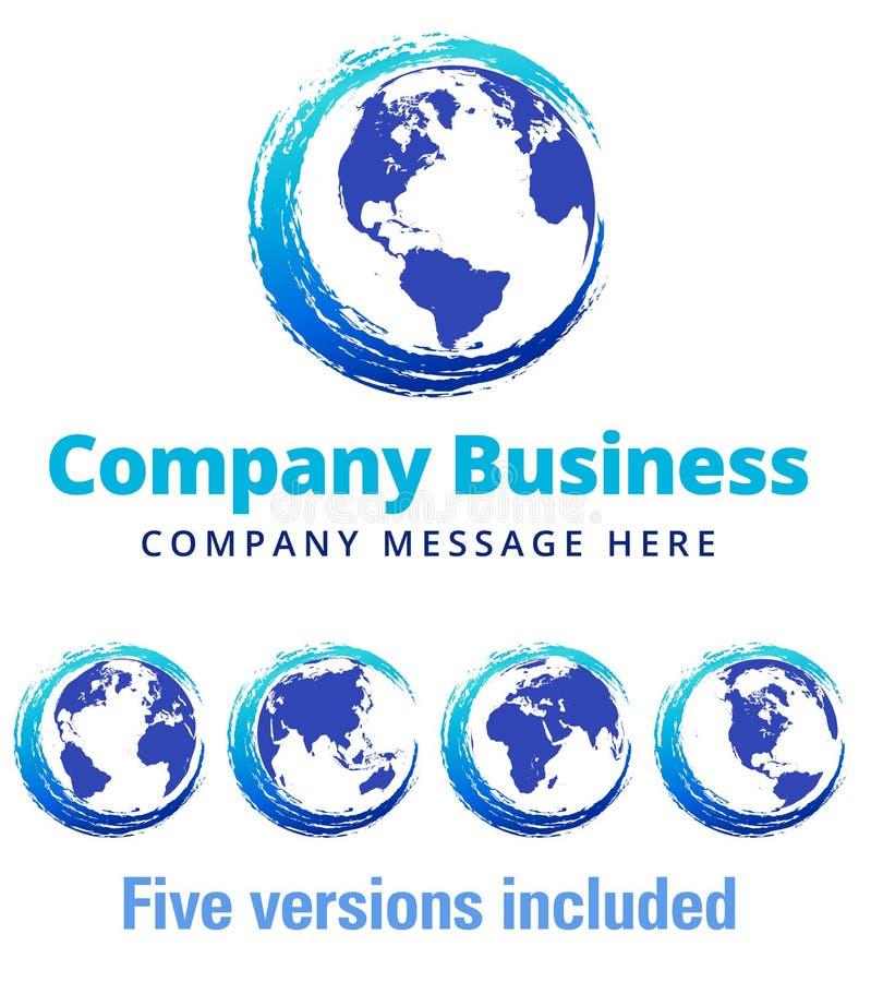 Affaires Logo Symbol de Global Company de remous illustration stock