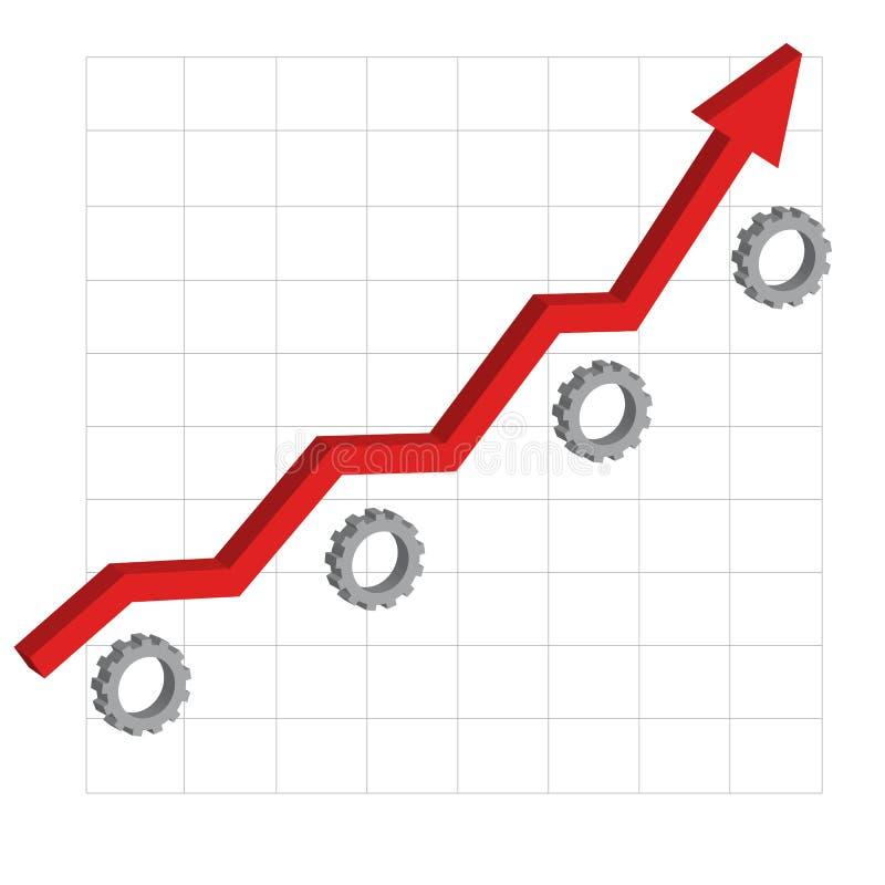 Affaires, machinant le succès illustration stock