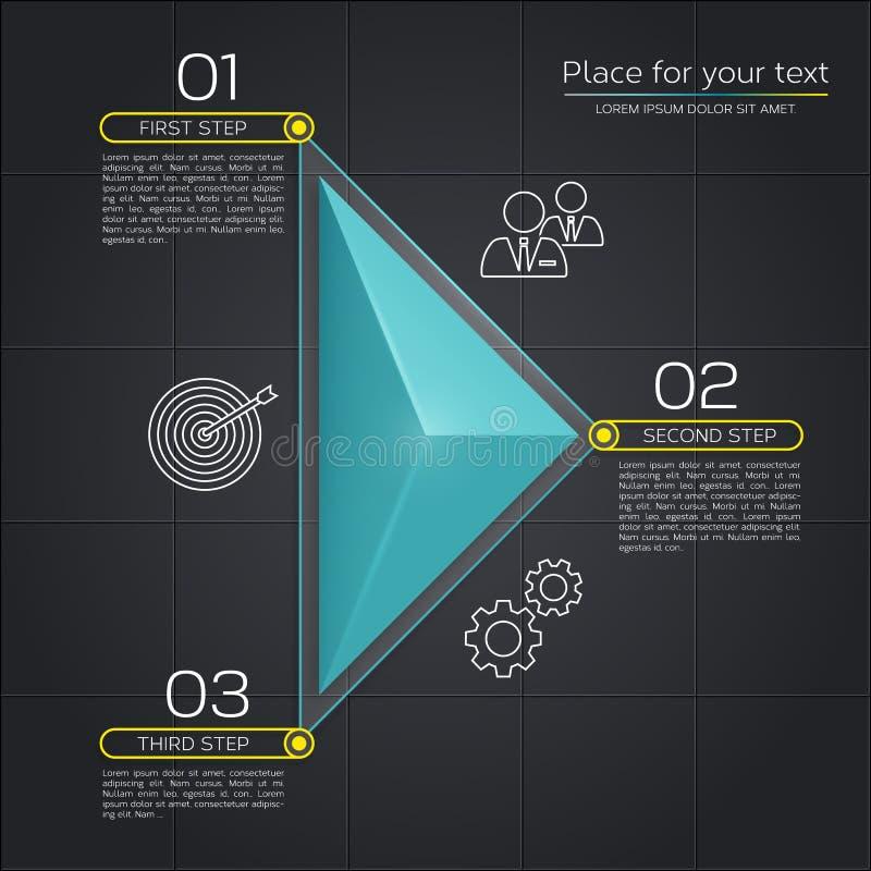 Affaires modernes infographic illustration stock
