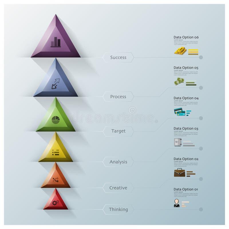 Affaires modernes Infographic de triangle et d'hexagone illustration stock