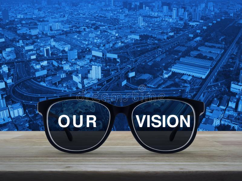 Affaires notre concept de vision illustration stock