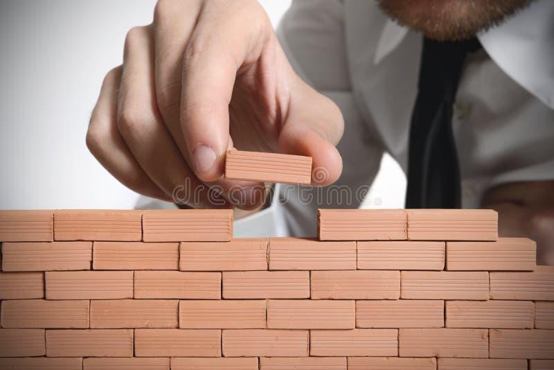 Affaires nouvelles de construction photographie stock