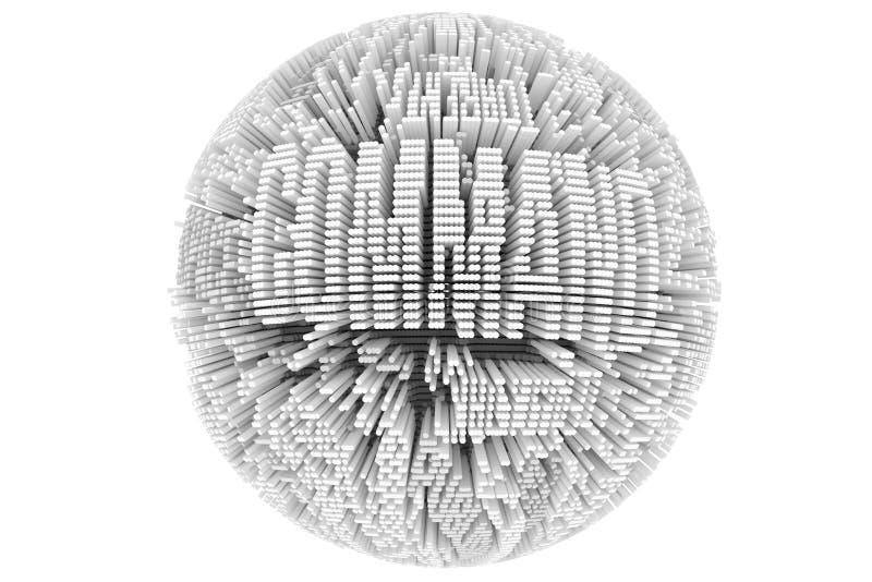 Affaires ou finances abstraites, sphère de structure géométrique ou plan illustration libre de droits