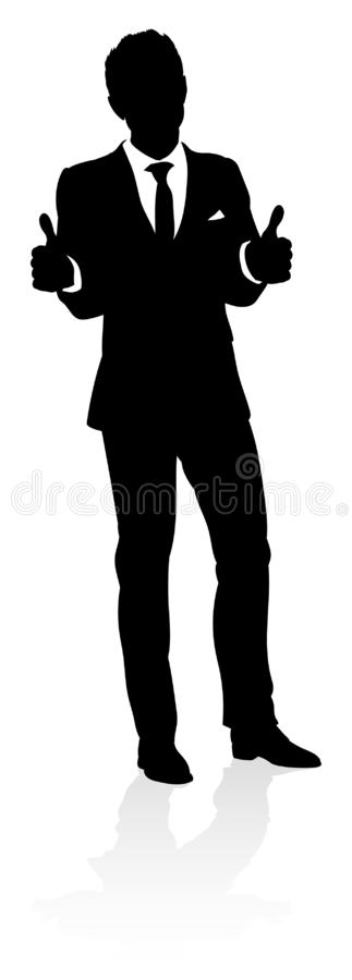 Affaires Person Silhouette illustration stock