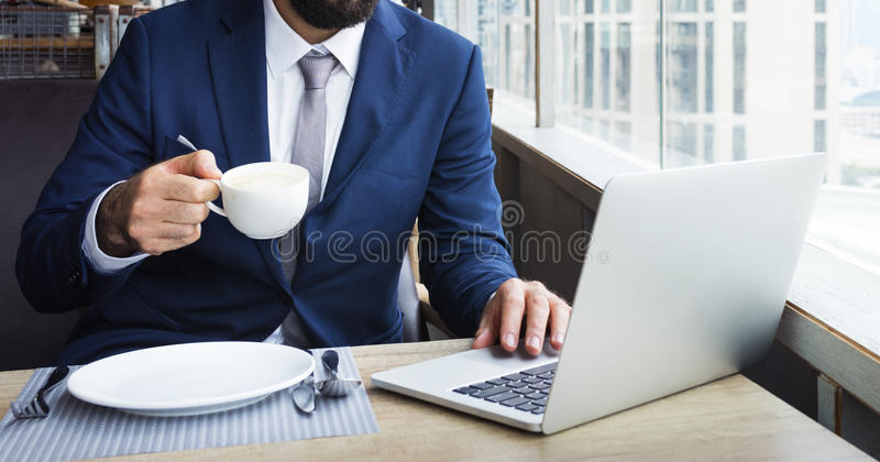 Affaires Person Work Indoors Concept photo stock