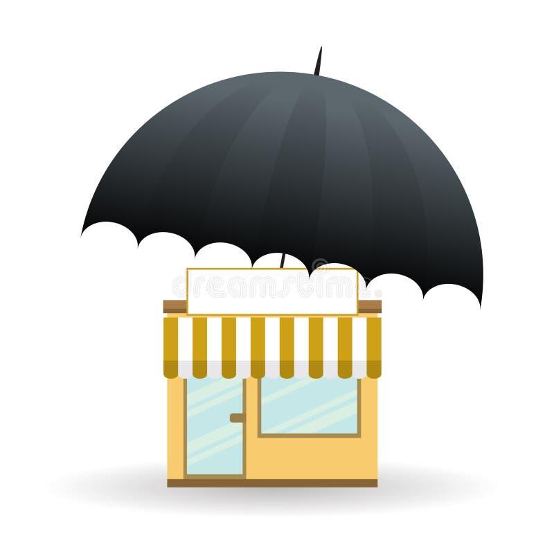 Affaires protégées illustration de vecteur
