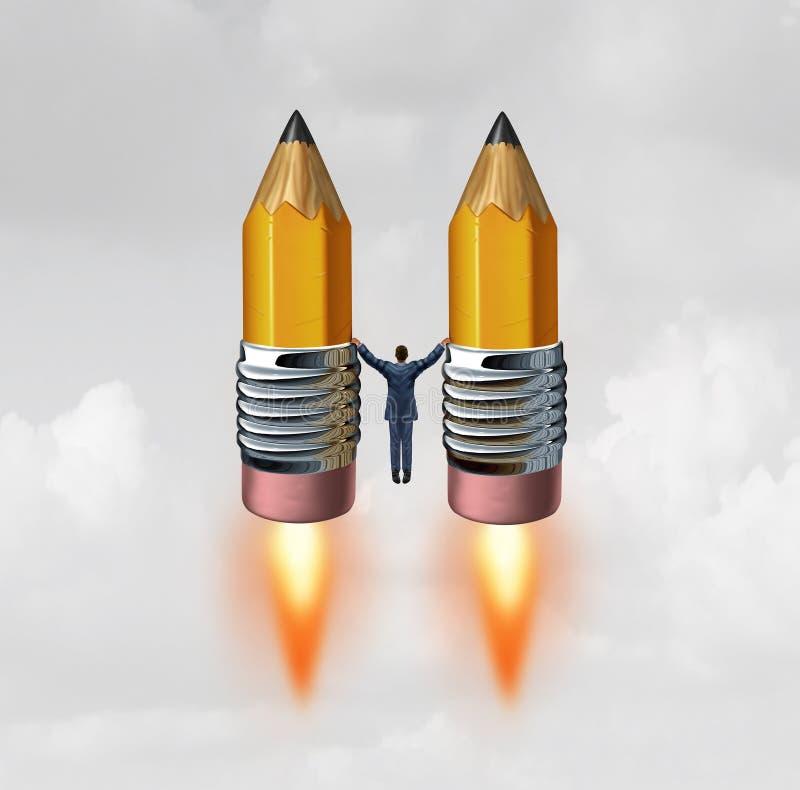 Affaires Rocket créatif illustration de vecteur