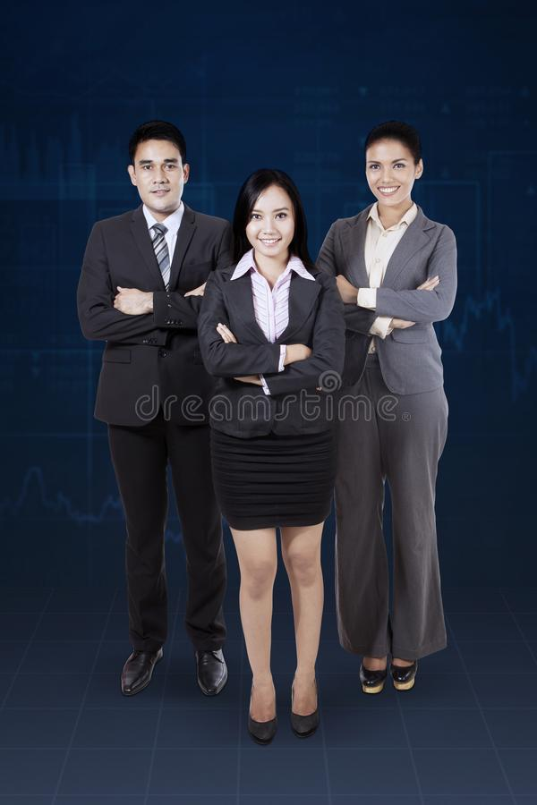 Affaires sûres Team Standing Together images stock