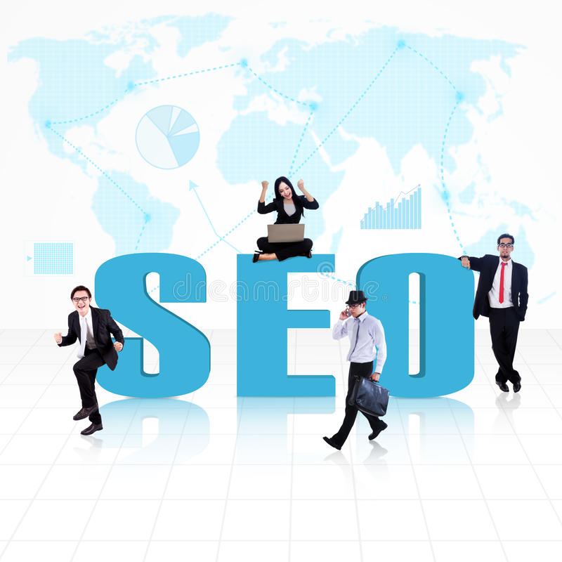 Affaires SEO global images stock