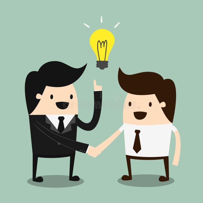 Affaires serrant la main illustration de vecteur