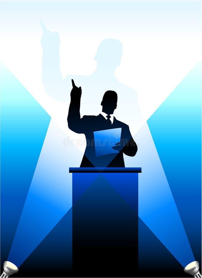 Affaires/silhouette politique de haut-parleur illustration libre de droits