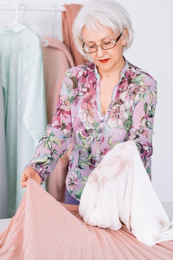 Affaires supérieures personnelles de femme de consultant en matière de mode images libres de droits
