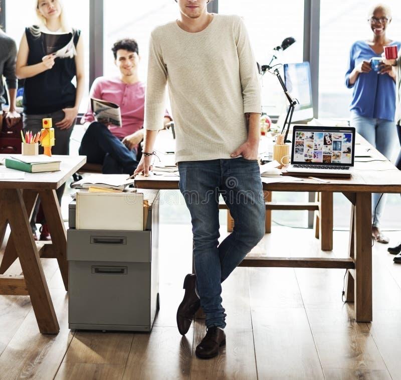 Affaires Team Brainstorming Workspace Concept images libres de droits