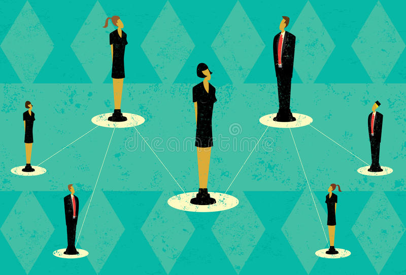 Affaires Team Hierarchy illustration stock
