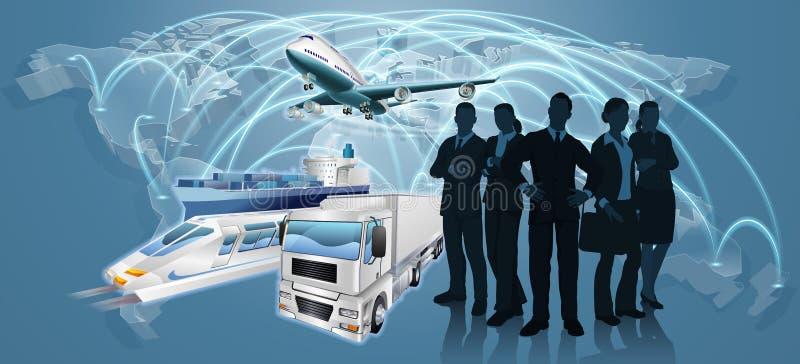 Affaires Team Logistics Concept illustration de vecteur