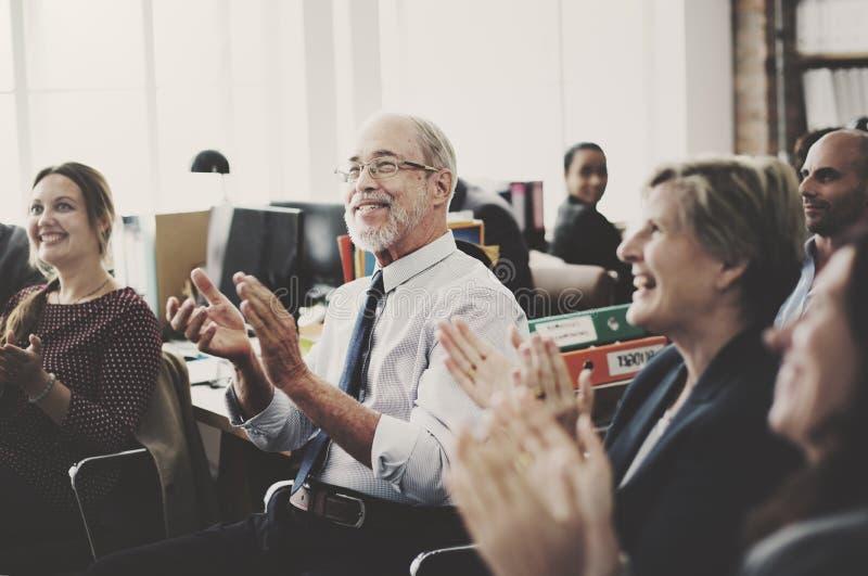 Affaires Team Meeting Achievement Applaud Concept photographie stock libre de droits