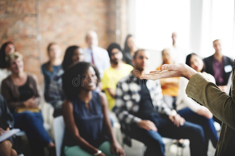 Affaires Team Seminar Listening Meeting Concept image libre de droits
