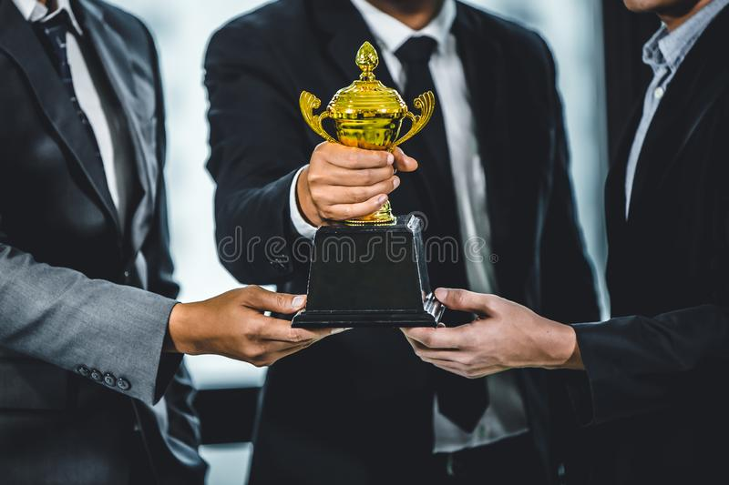 Affaires Team Win ou concept réussi photo stock