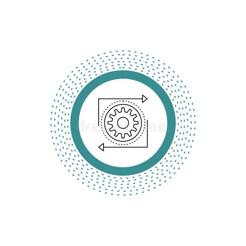 Affaires, vitesse, gestion, opération, chaîne de fabrication icône Illustration d'isolement par vecteur illustration libre de droits
