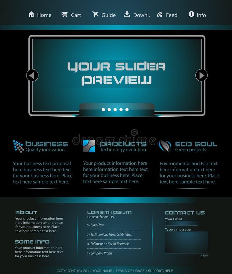 Affaires Webtemplate ou dessin de blog de Wordpress illustration de vecteur