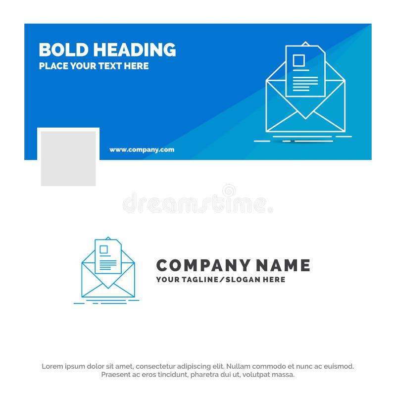 Affare blu Logo Template per posta, contratto, lettera, email, istruzione Progettazione dell'insegna di cronologia di Facebook Ba illustrazione vettoriale