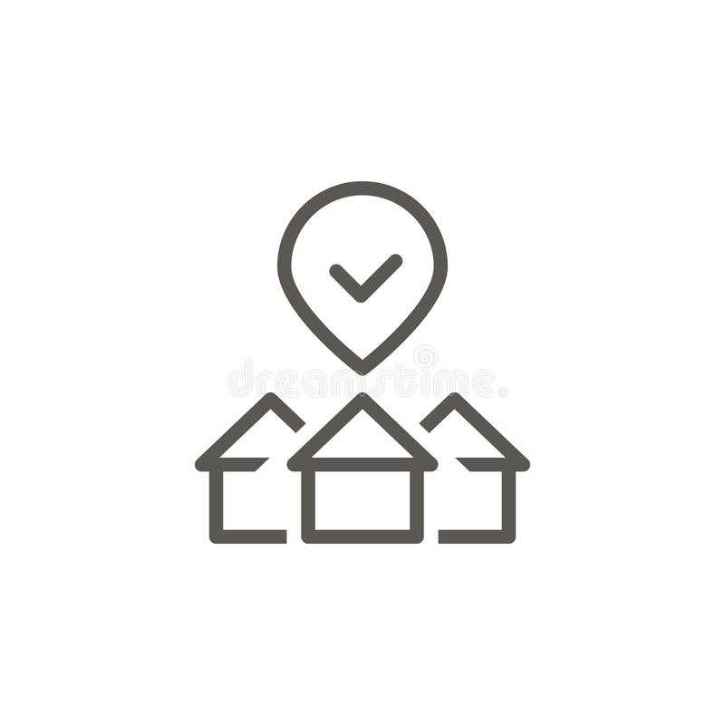 Affare, casa, proprietà, icona di vettore di selezione Illustrazione semplice dell'elemento dal concetto di UI Affare, casa, prop royalty illustrazione gratis