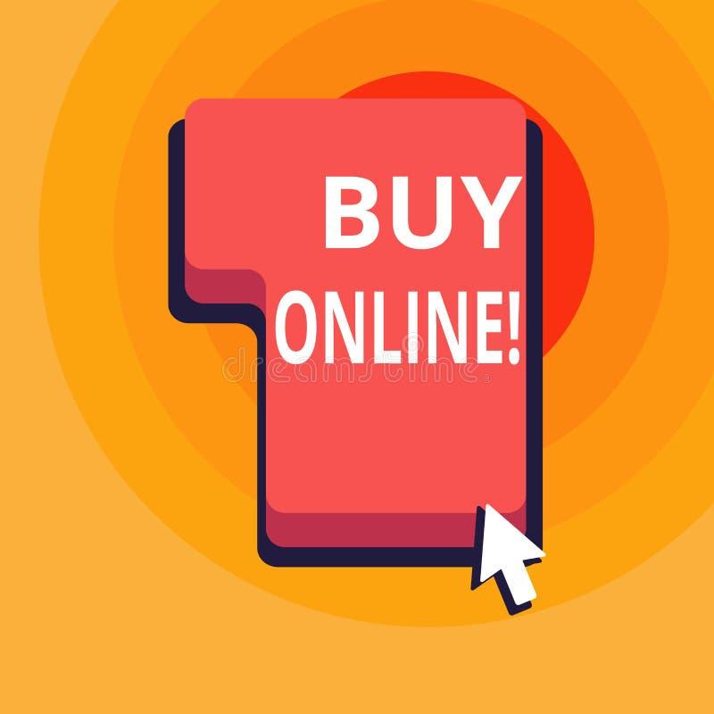 Affare concettuale di rappresentazione di scrittura della mano online Commercio elettronico del testo della foto di affari che pe illustrazione vettoriale