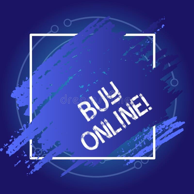 Affare concettuale di rappresentazione di scrittura della mano online Foto di affari che montra commercio elettronico a cui perme illustrazione di stock