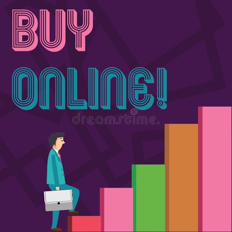 Affare concettuale di rappresentazione di scrittura della mano online Foto di affari che montra commercio elettronico a cui perme royalty illustrazione gratis