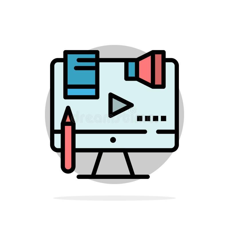 Affare, contenuto, Copyright, Digital, icona piana di colore del fondo astratto del cerchio di legge illustrazione di stock