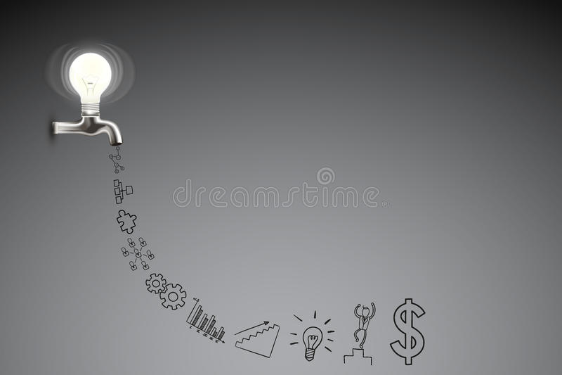 Affare creativo e concetto di idea immagini stock libere da diritti