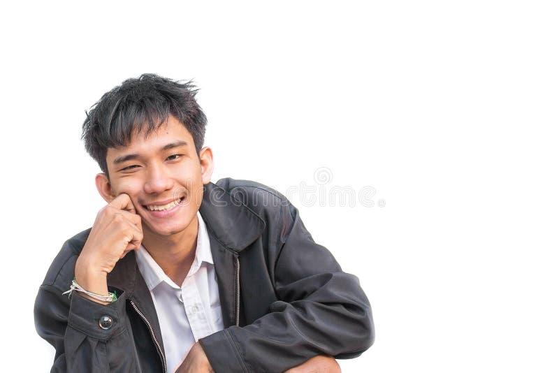 Affare degli studenti di sorriso, uomo bello in busine sorridente di successo fotografia stock