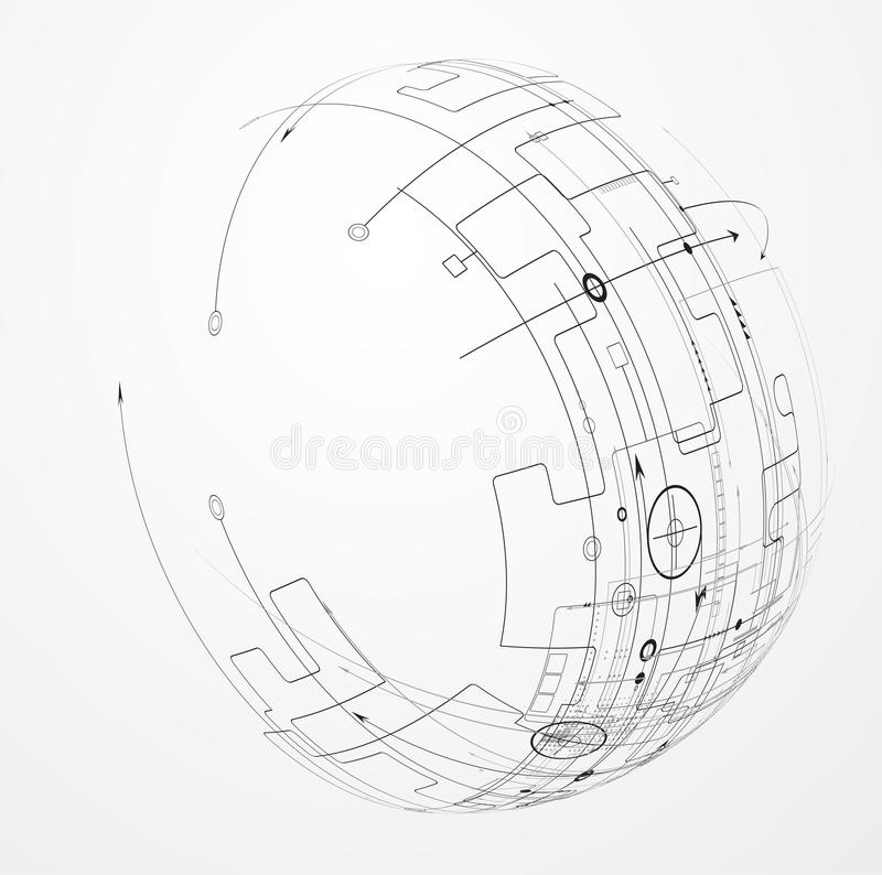 Affare del fondo di tecnologia & direzione astratti di sviluppo illustrazione vettoriale