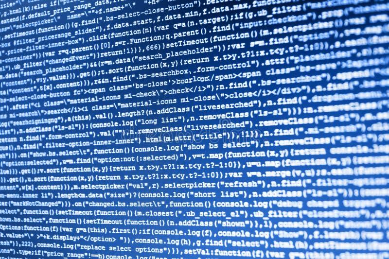 Affare dell'IT Sintassi del PHP evidenziata Affare della creazione del software del PC immagine stock libera da diritti