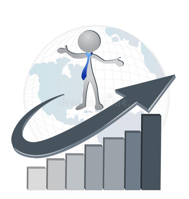 Affare della società finanziaria di successo illustrazione di stock