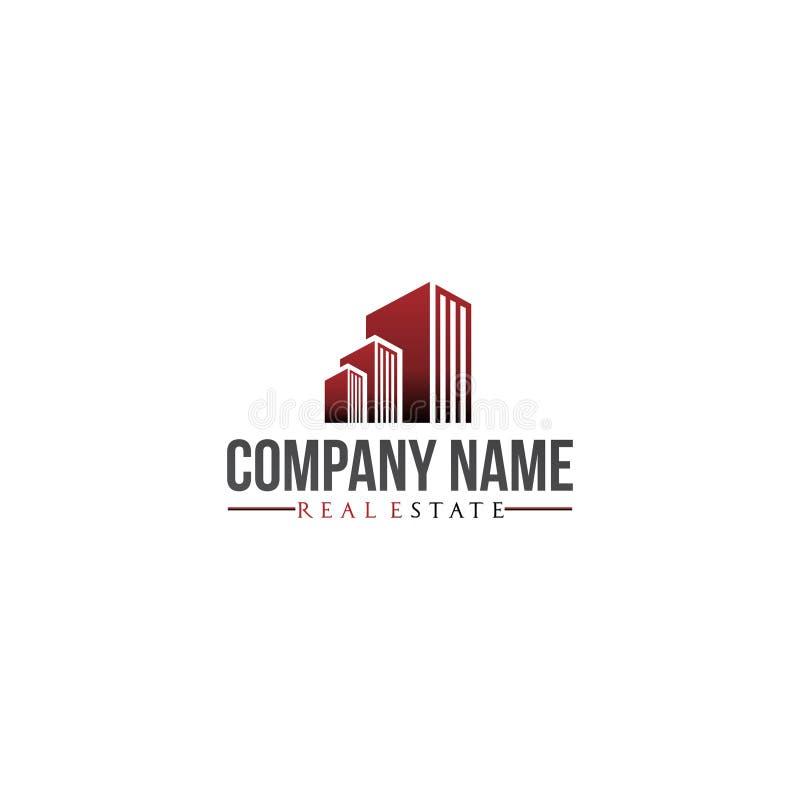 Affare della società immobiliare e residenziale di logo fotografia stock