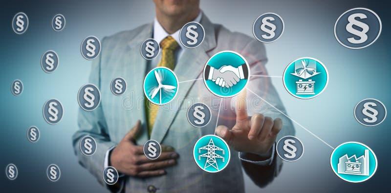 Affare di Closing ESS del responsabile per stoccaggio di energia eolica immagine stock libera da diritti