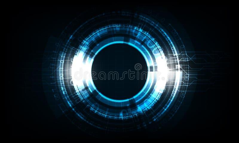 Affare di Digital, cerchio di tecnologia di vettore e fondo di tecnologia illustrazione vettoriale