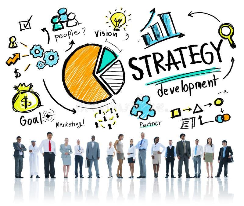 Affare di pianificazione di visione di vendita di scopo di sviluppo di strategia fotografia stock