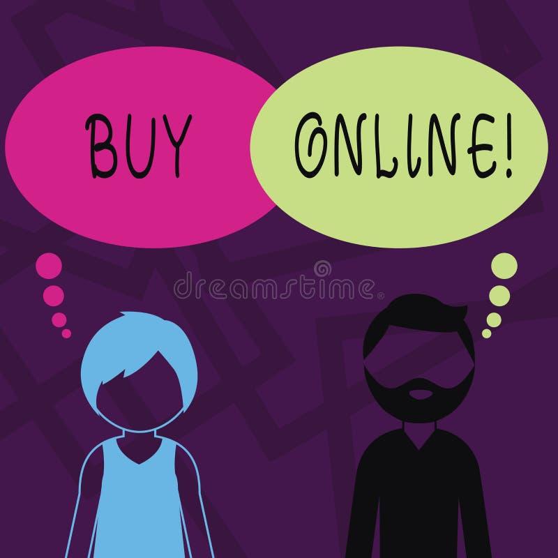 Affare di rappresentazione del segno del testo online Commercio elettronico della foto concettuale che permette che i consumatori illustrazione vettoriale