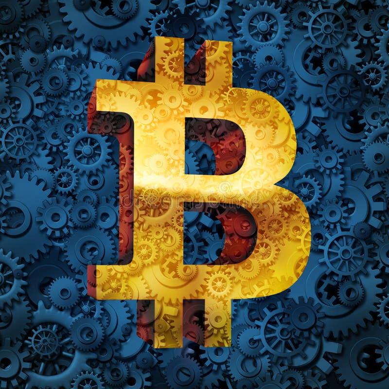 Affare di valuta di Bitcoin royalty illustrazione gratis