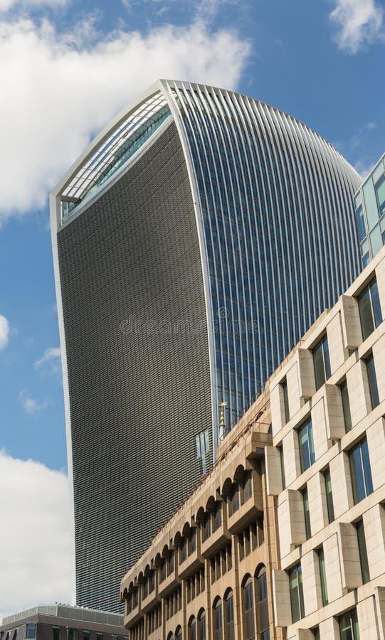Affare e distretto finanziario di Londra nel Regno Unito immagine stock
