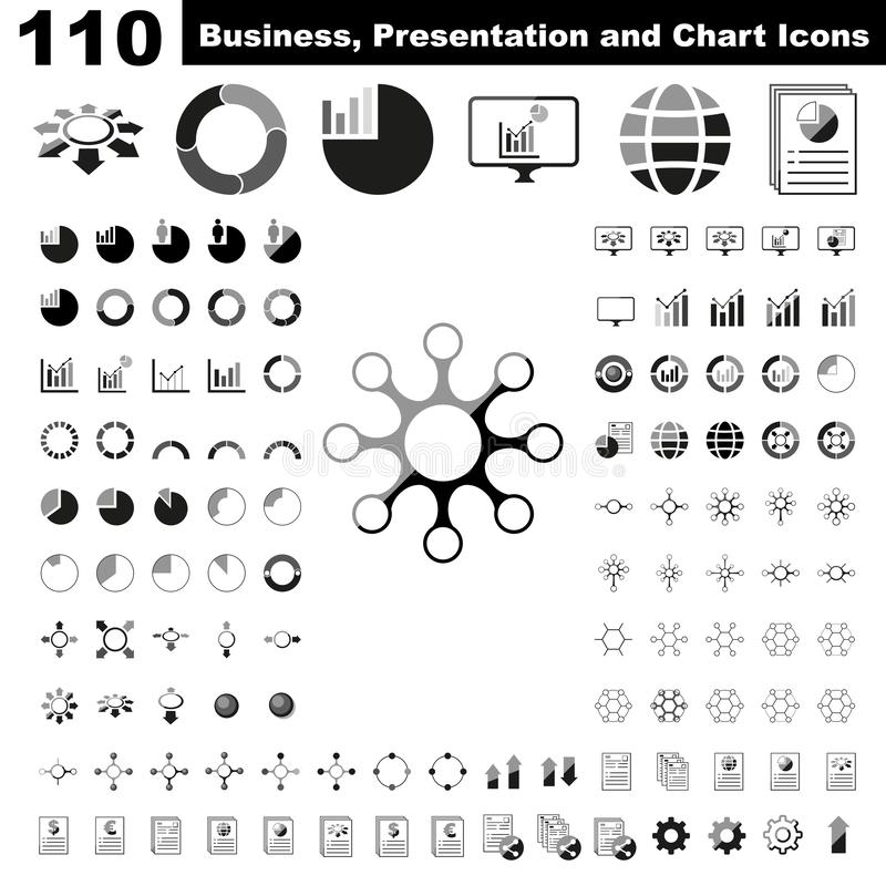 Affare elementi infographic, del grafico, di presentazione, di rapporto e di visualizzazione con colore illustrazione vettoriale