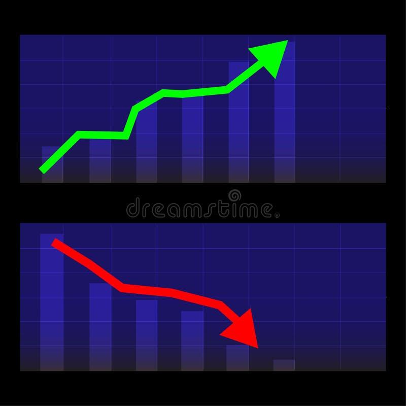 Affare finanziario di vettore del grafico di investimento di crescita fotografia stock