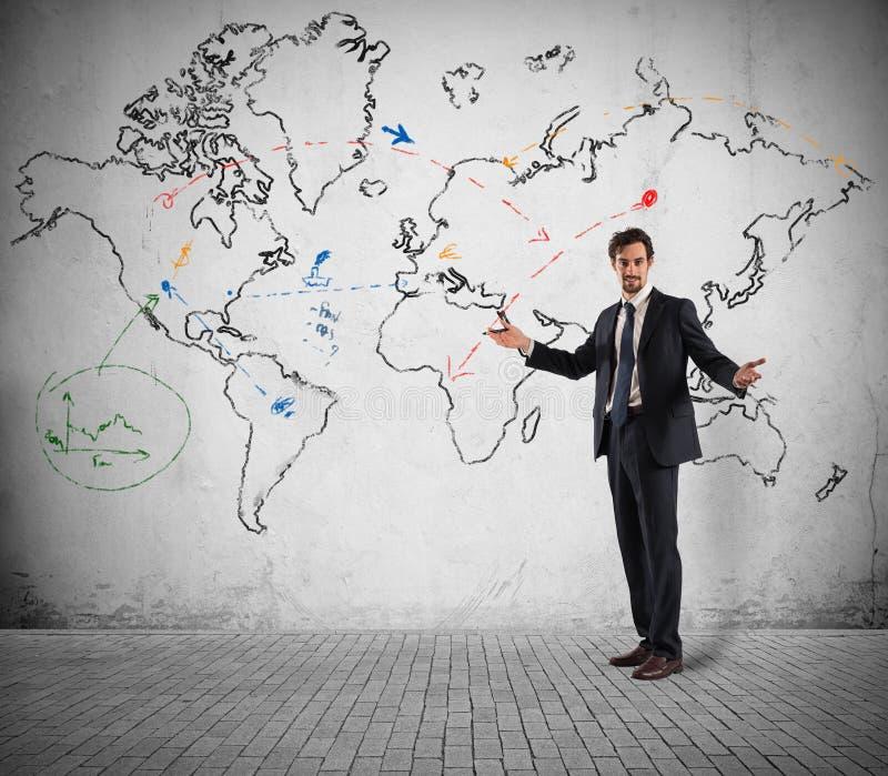 Affare globale e strategia di marketing royalty illustrazione gratis