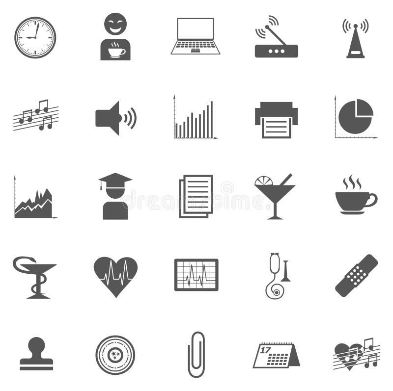 Affare Gray Icon Set 005 illustrazione di stock
