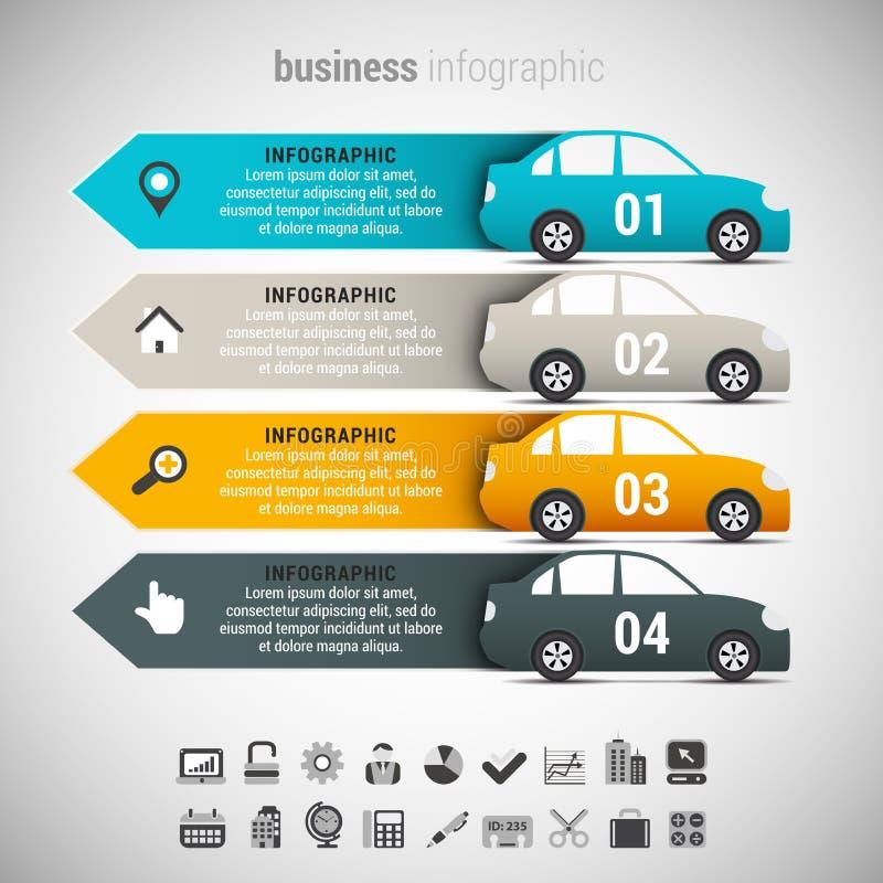 Affare Infographic illustrazione di stock