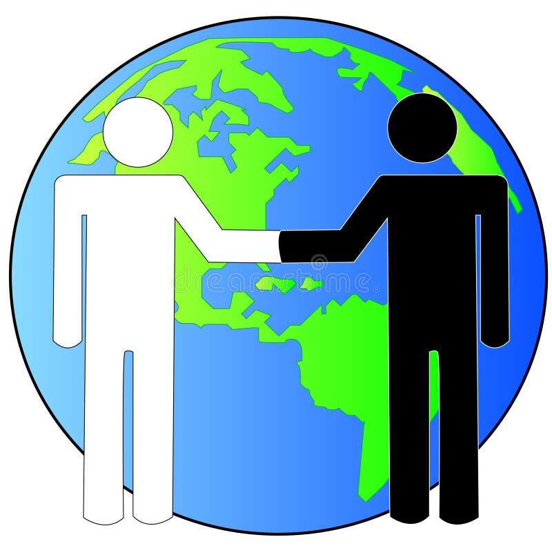 Affare internazionale di affari illustrazione vettoriale