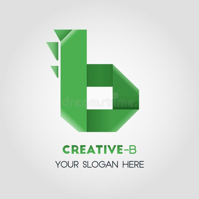 Affare Logo Template della lettera di B illustrazione vettoriale